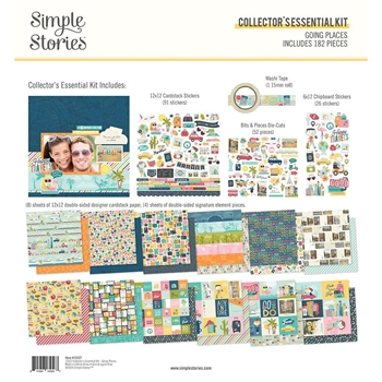 Simple Stories GOING PLACES 12 x 12 Collector's Essential Kit 12327