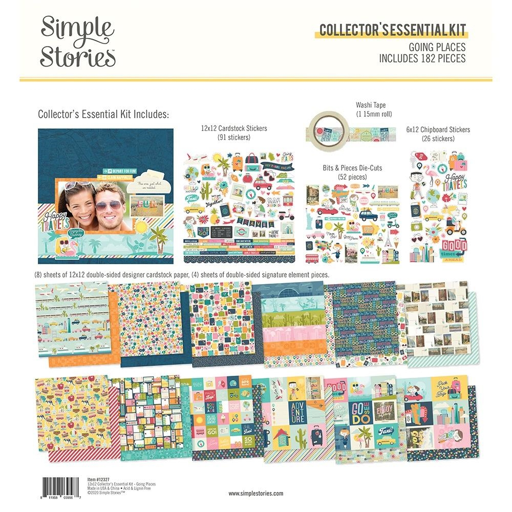 Simple Stories GOING PLACES 12 x 12 Collector's Essential Kit 12327 zoom image