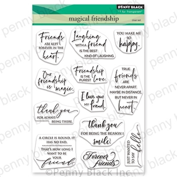 Penny Black Clear Stamps MAGICAL FRIENDSHIP 30-707