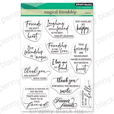 Penny Black Clear Stamps MAGICAL FRIENDSHIP 30-707 zoom image