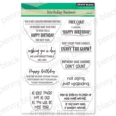 Penny Black Clear Stamps BIRTHDAY HUMOR 30-706 Preview Image