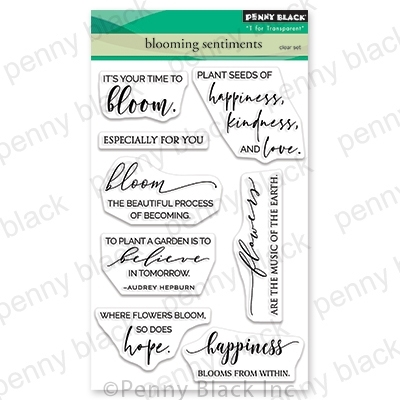 Penny Black Clear Stamps BLOOMING SENTIMENTS 30-703 zoom image