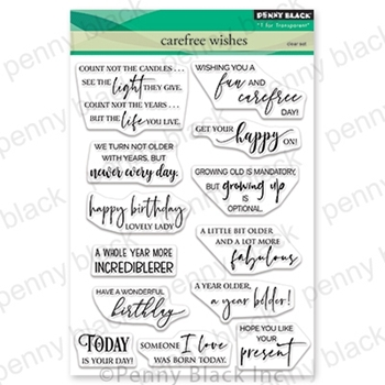 Penny Black Clear Stamps CAREFREE WISHES 30-700