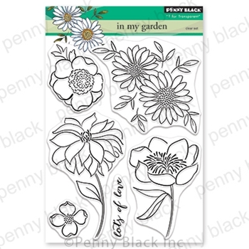 Penny Black Clear Stamps IN MY GARDEN 30-699
