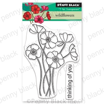 Penny Black Clear Stamps WILDFLOWERS 30-698