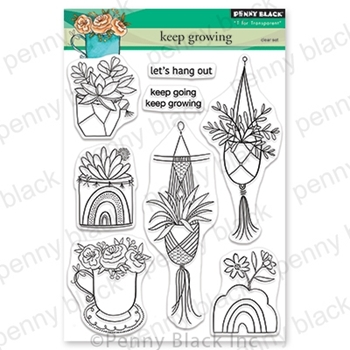 Penny Black Clear Stamps KEEP GROWING 30-697