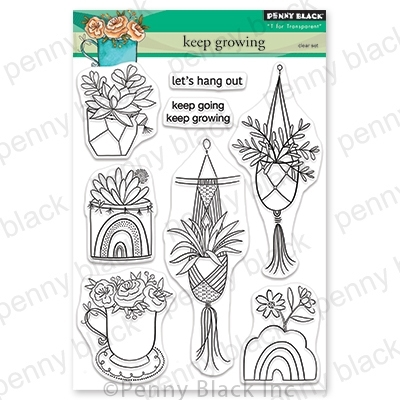 Penny Black Clear Stamps KEEP GROWING 30-697 zoom image