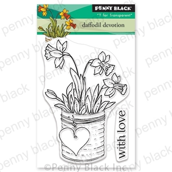 Penny Black Clear Stamps DAFFODIL DEVOTION 30-694