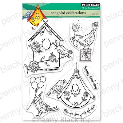 Penny Black Clear Stamps SONGBIRD CELEBRATIONS 30-693 zoom image