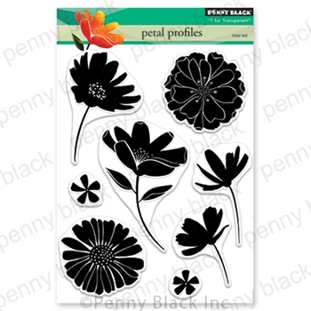 Penny Black Clear Stamps PETAL PROFILES 30-684