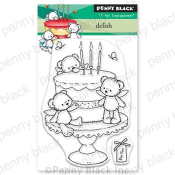 Penny Black Clear Stamps DELISH 30-683