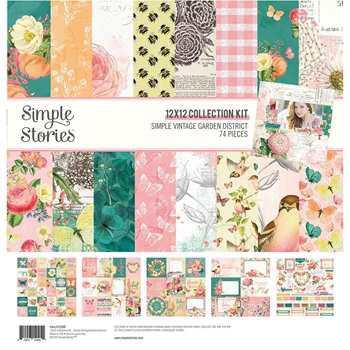 Simple Stories GARDEN DISTRICT 12 x 12 Collection Kit 12500