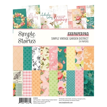 Simple Stories GARDEN DISTRICT 6 x 8 Paper Pad 12515