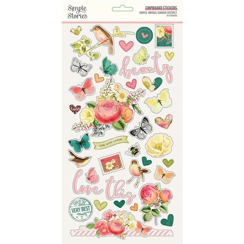 Simple Stories GARDEN DISTRICT 6 x 12 Chipboard Stickers 12516 Preview Image