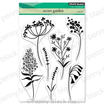 Penny Black Clear Stamps SECRET GARDEN 30-682