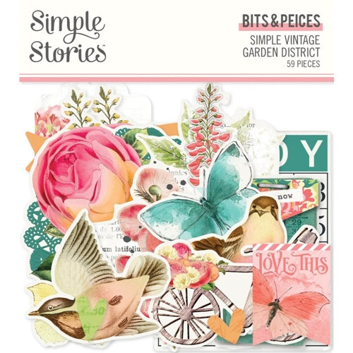 Simple Stories GARDEN DISTRICT Floral Bits And Pieces 12518 Preview Image