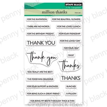 Penny Black Clear Stamps MILLION THANKS 30-680