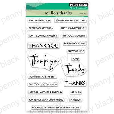 Penny Black Clear Stamps MILLION THANKS 30-680 zoom image
