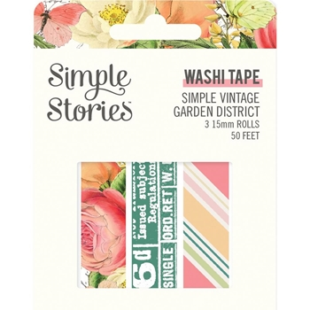 Simple Stories GARDEN DISTRICT Washi Tape 12521