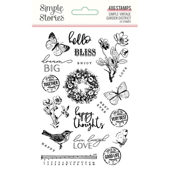 Simple Stories GARDEN DISTRICT Clear Stamp Set 12522