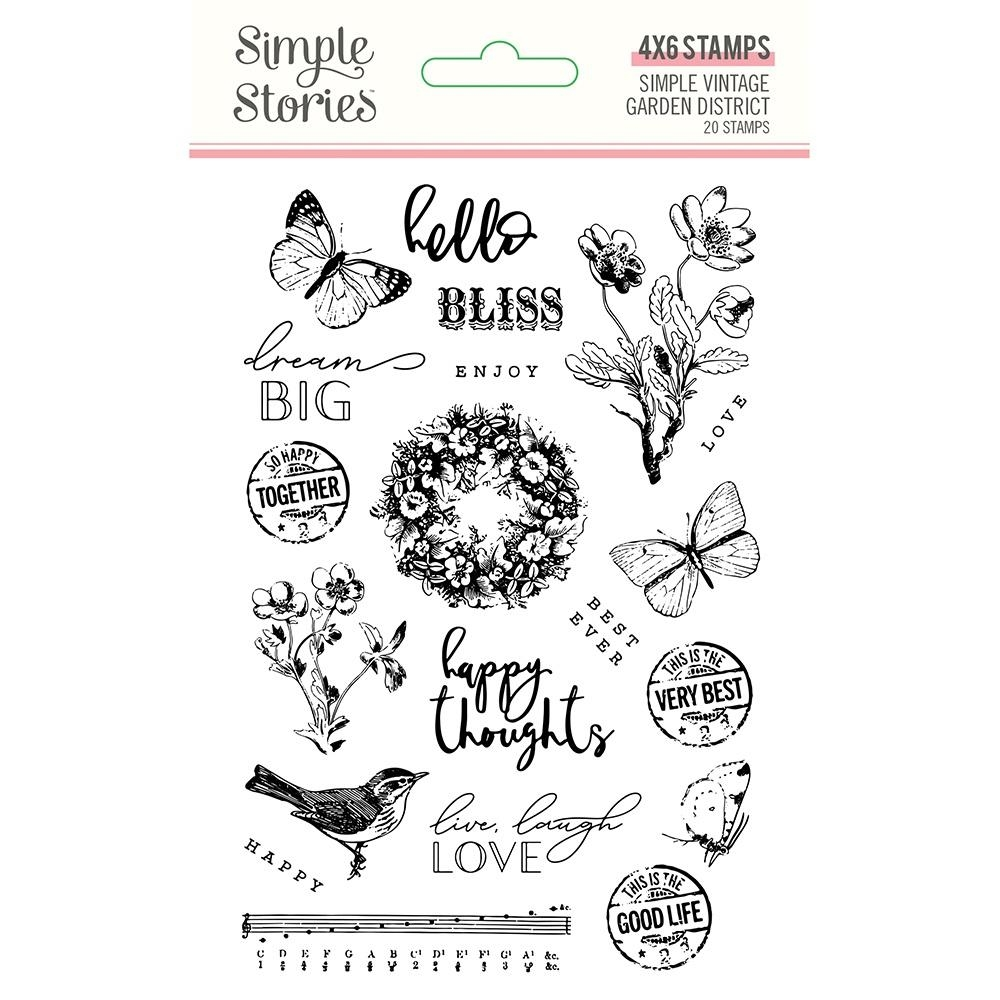 Simple Stories GARDEN DISTRICT Clear Stamp Set 12522 zoom image