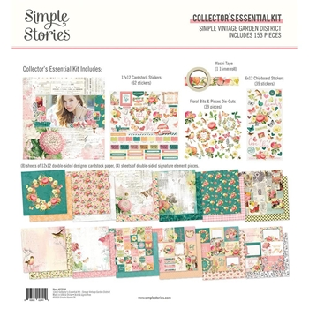 Simple Stories GARDEN DISTRICT 12 x 12 Collector's Essential Kit 12524