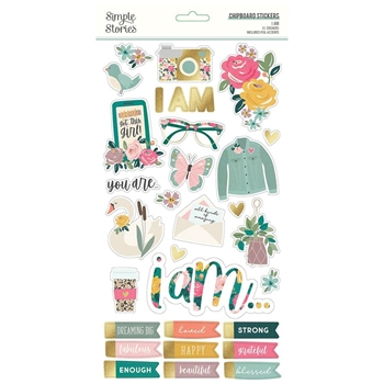 Simple Stories I AM 6 x 12 Chipboard Stickers 12415