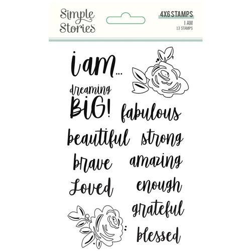 Simple Stories I AM Clear Stamp Set 12423 Preview Image