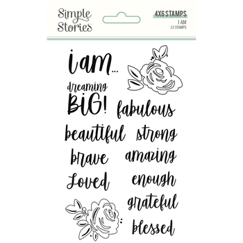 Simple Stories I AM Clear Stamp Set 12423
