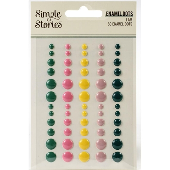 Simple Stories I AM Enamel Dots 12424