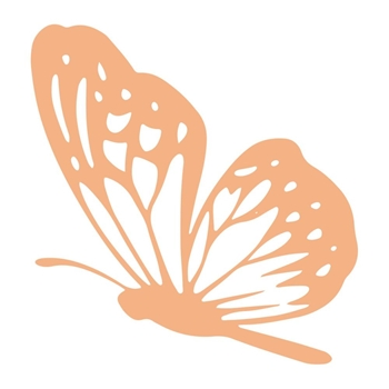 Couture Creations LANDING BUTTERFLY Mini Clear Stamp co727616