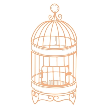 Couture Creations SMALL BIRDCAGE Mini Stamps co727617