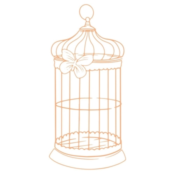 Couture Creations BUTTERFLY CAGE Mini Stamp co727618