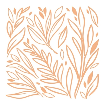 Couture Creations LEAFY BACKGROUND Mini Stamp co727621