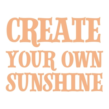 Couture Creations CREATE YOUR SUNSHINE Mini Stamp co727622