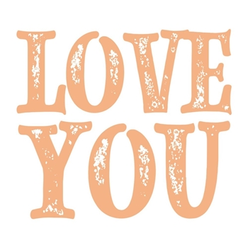 Couture Creations LOVE YOU SENTIMENT Mini Stamp co727623