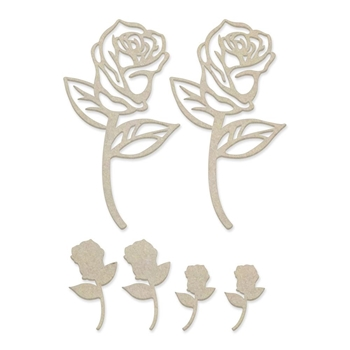 Couture Creations ROSE BLOOMS Chipboard co727639