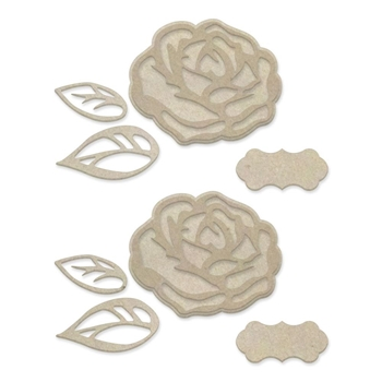 Couture Creations LAYERED ROSES Chipboard co727640