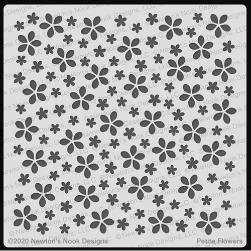 Newton's Nook Designs PETITE FLOWERS Stencil NN2002T01 Preview Image