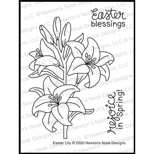 Newton's Nook Designs EASTER LILY Clear Stamps NN2002S03 Preview Image