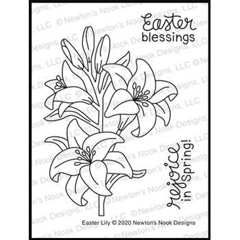 Newton's Nook Designs EASTER LILY Clear Stamps NN2002S03