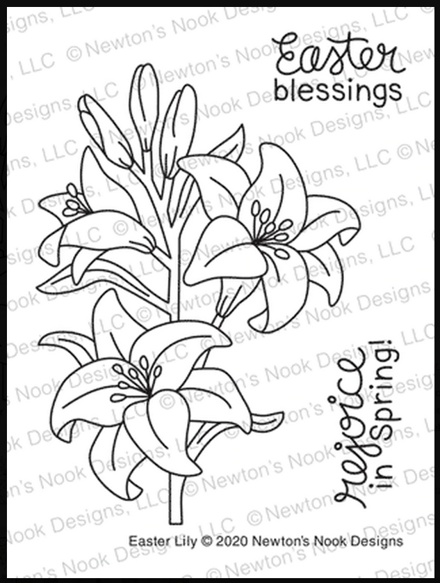 Newton's Nook Designs EASTER LILY Clear Stamps NN2002S03 zoom image