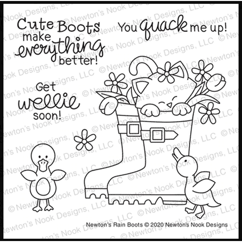 Newton's Nook Designs NEWTON'S RAIN BOOTS Clear Stamps NN2002S02  Preview Image