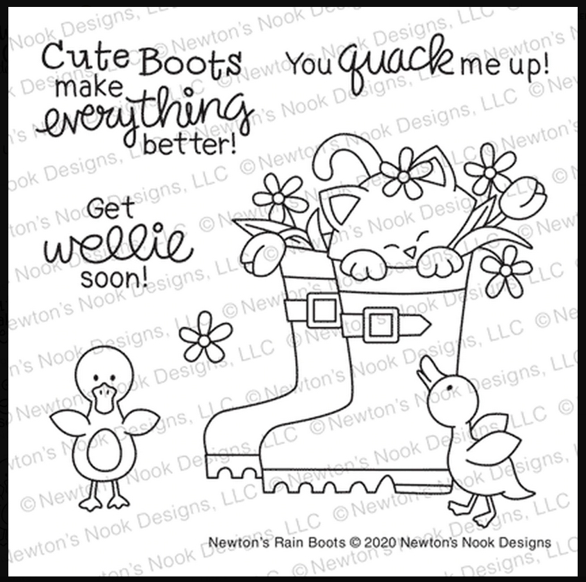 Newton's Nook Designs NEWTON'S RAIN BOOTS Clear Stamps NN2002S02  zoom image
