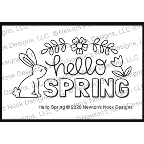 Newton's Nook Designs HELLO SPRING Clear Stamps NN2002S05 Preview Image