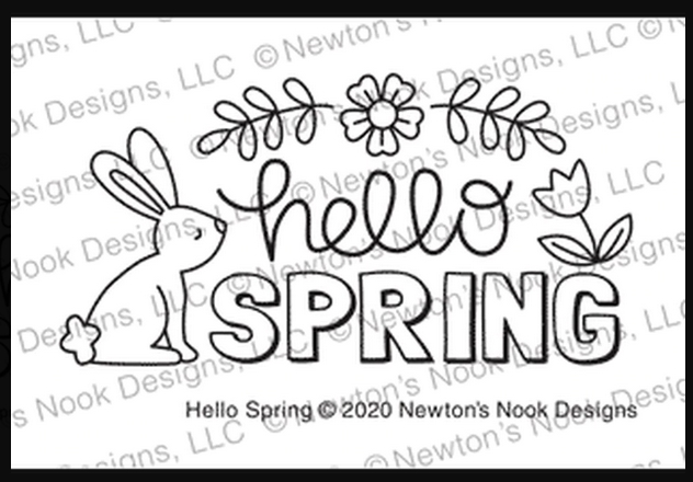 Newton's Nook Designs HELLO SPRING Clear Stamps NN2002S05 zoom image