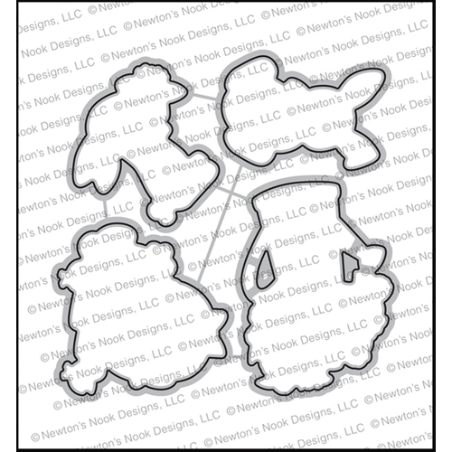 Newton's Nook Designs HOP INTO SPRING Dies NN2002D01 Preview Image