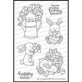 Newton's Nook Designs HOP INTO SPRING Clear Stamps NN2002S01