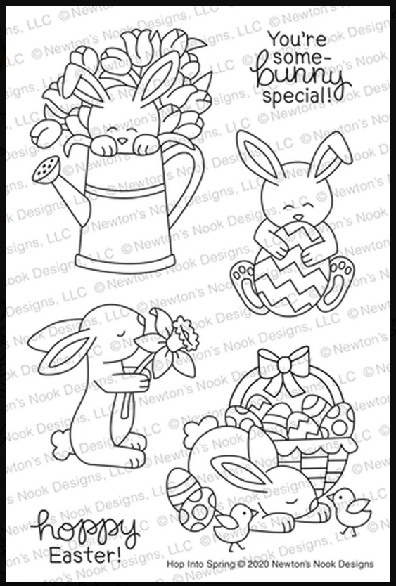 Newton's Nook Designs HOP INTO SPRING Clear Stamps NN2002S01 zoom image
