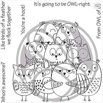 The Rabbit Hole Designs OWL-RIGHT Clear Stamps TRH-60
